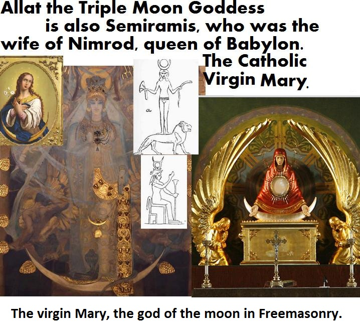 mary virgin moon cresent and