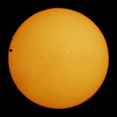 Transitition of Venus as Seen From  Canberra, Australia