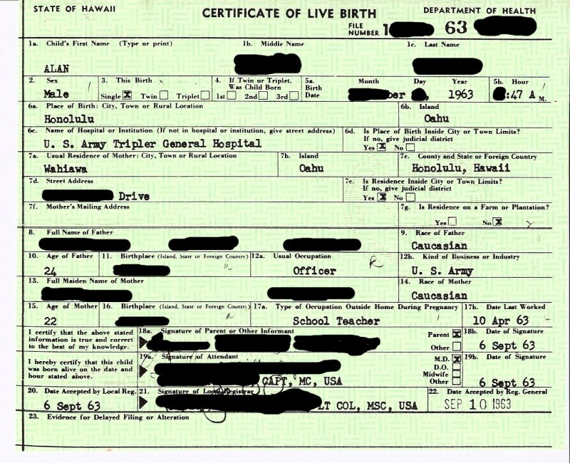 Birth Certificate Sample Birth Certificate Sample Birth And Baptism
