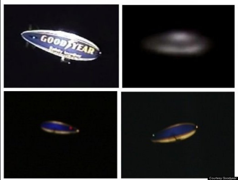 Goodyear Blimp or UFO at 2012 London Olympics?