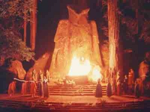 Bohemian Grove Cremation of Care Ceremony