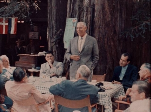 Ronald Reagan and Richard Nixon at Bohemian Grove