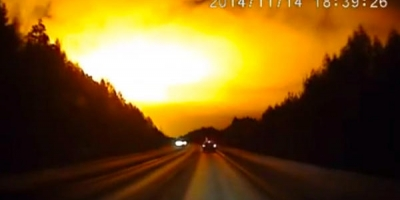 UPDATE: A Mysterious Flash in the Sky Over Russia: Authorities ' Refused to Comment.' WITH VIDEOS.