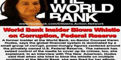 'The Banksters Madoff with America' :Scene with Whistle Blower, Karen Hudes ....