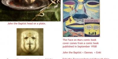 John the Baptist's head is the Face on mars