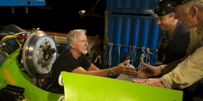 James Cameron Getting Settled in The Deep Sea Diving Submarine,The Challenger.