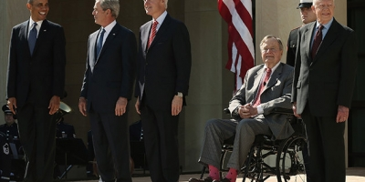 1 U.S. President, And 4 U.S. EX-Presidents Gathered For Memorial
