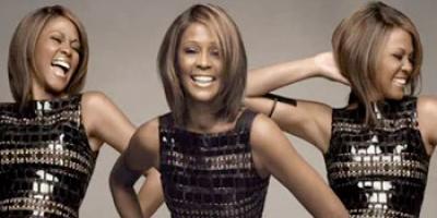 Whitney Houston posing as the three graeae