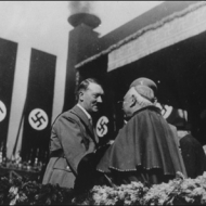 Hitler greets a Catholic Cardinal