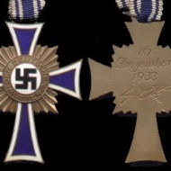 A Christian cross given to German mothers
