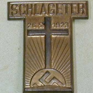 Nazi Schlageter pin badge