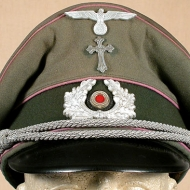 Nazi Army (Heer) chaplain's hat with silver Christian cross