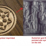 Another Crop circle of the sumerian god ENKI