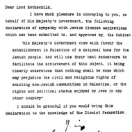 Balfour Declaration Picture