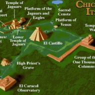 The Area of the Mayan palace,and surrounding grounds.
