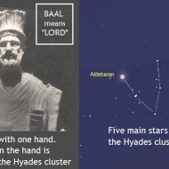 God Baal with one hand - symbolic of the Hyades cluster