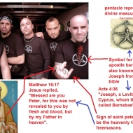 satanists with iconography