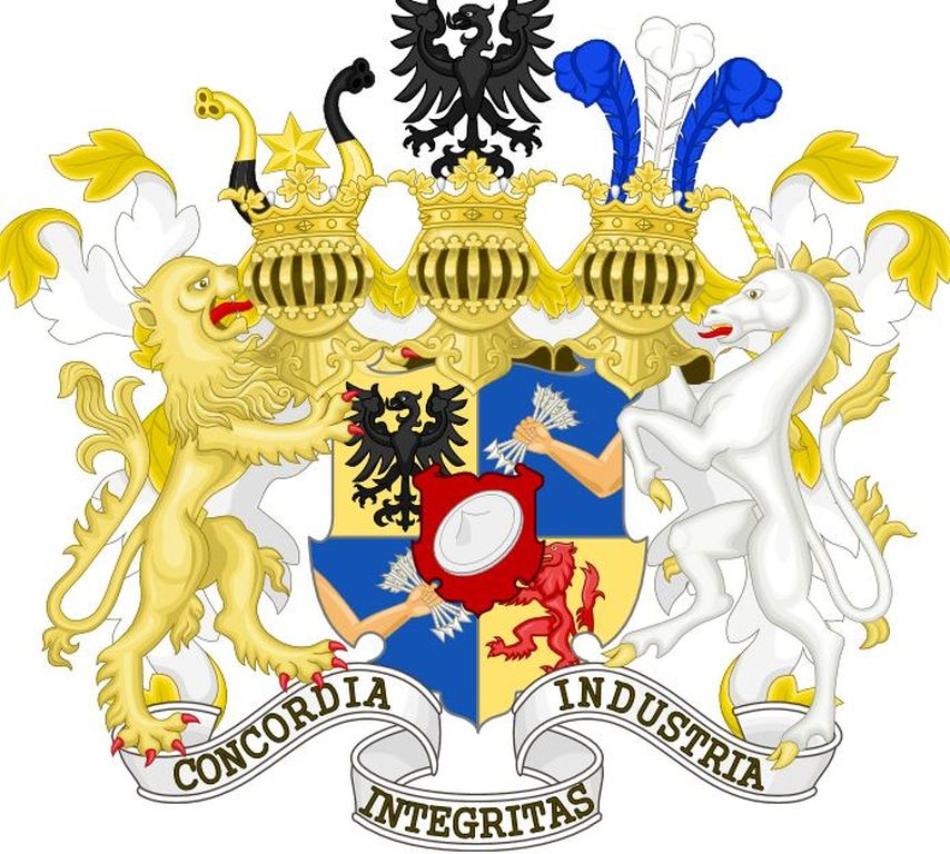 Rothschild coat of arms symbolism truth control for How did the white house get its name