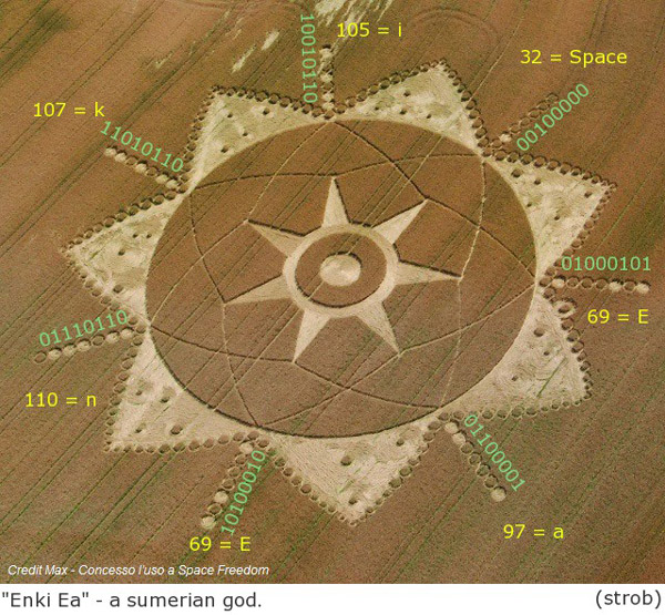 Ea Enki Hollow Earth Crop Circle Truth Control