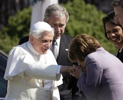 Nancy Pelosi Kissing The Pope's Ring