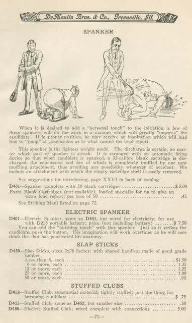 masonic electric spanker