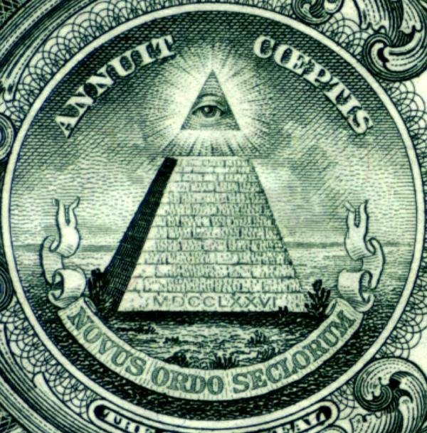 Back of Dollar Bill Pyramid - Eye of Horus