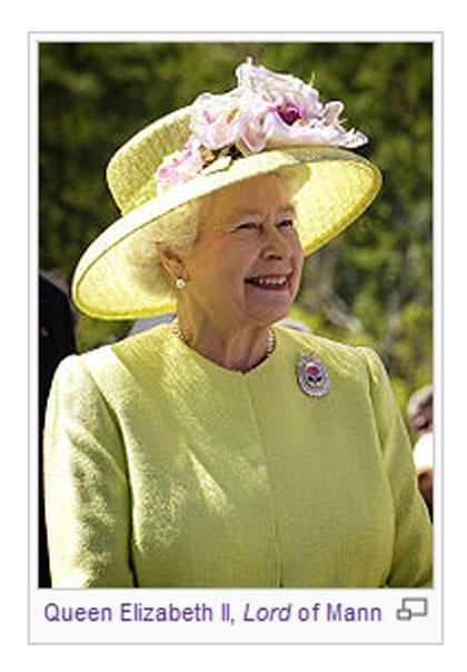 Queen Elizabeth II, Lord of Mann