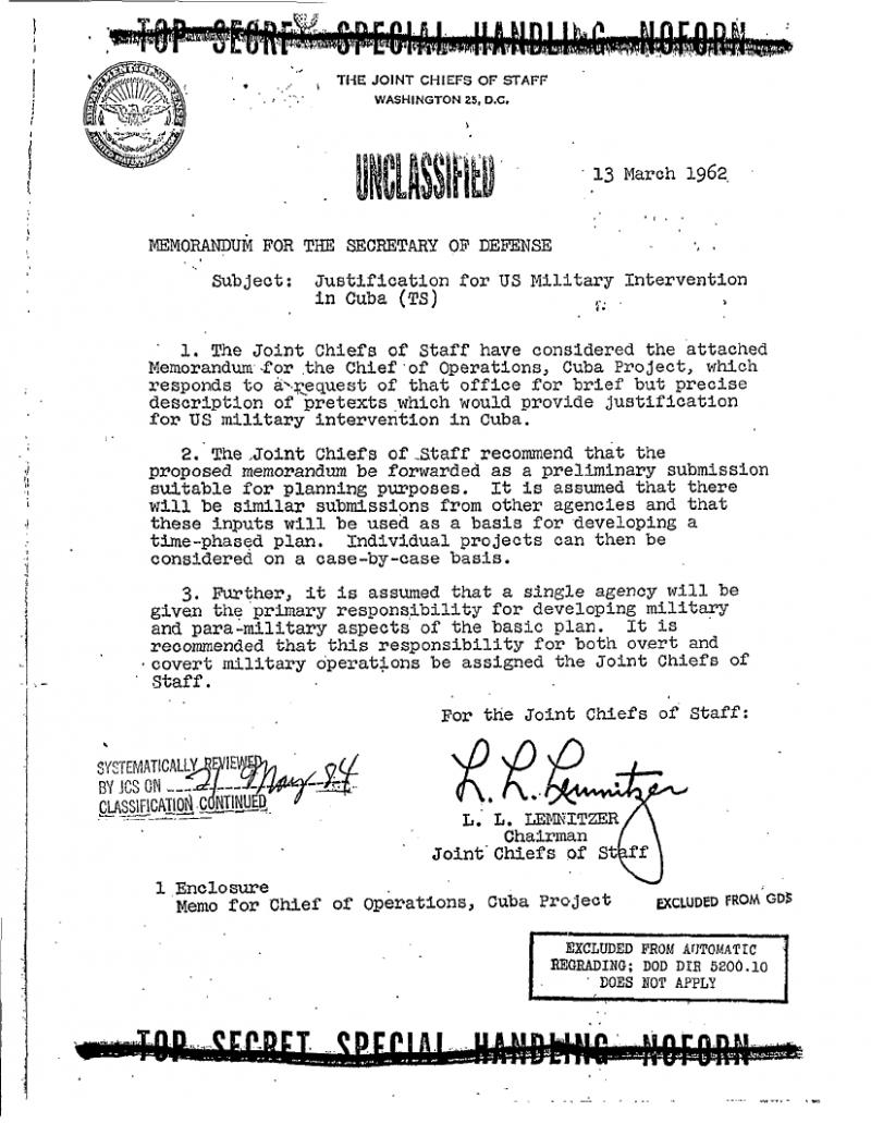 Operation Northwoods Page 1