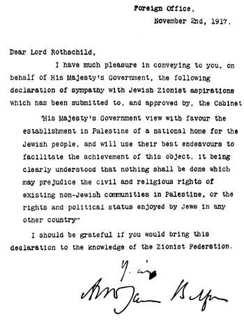 Balfour Declaration Picture