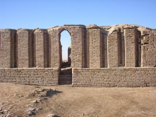 Ziggerat in the Land of Ur.  Ancient Sumerian Building!