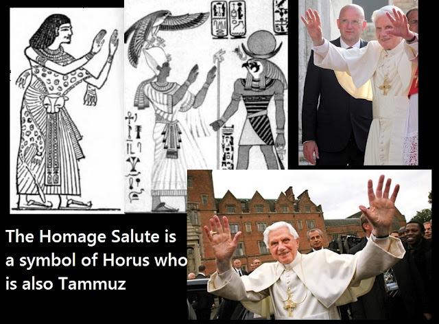 Pope Praising The Ancient Egyptian God Horus