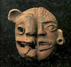 the alpha and omega - mesoamerican mask