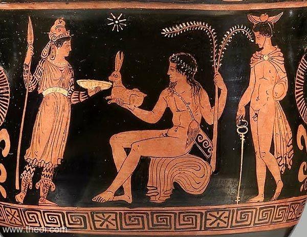 artemis, apollon and hermes