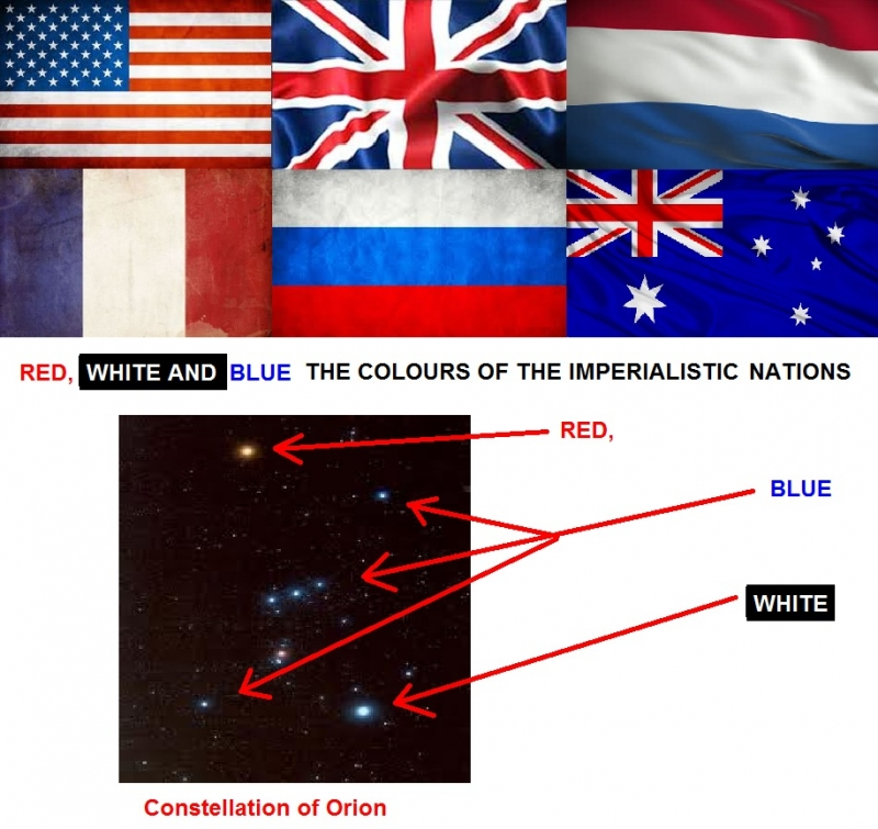 Origins of the red, white and blue colours of flags