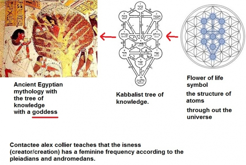 why is the god of the tree of life female?