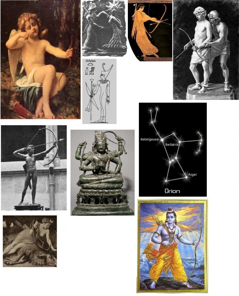 Gods and Goddesses with bows and arrows