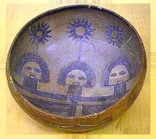 old masonic bowl with three suns