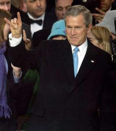 Devil fingers George Bush