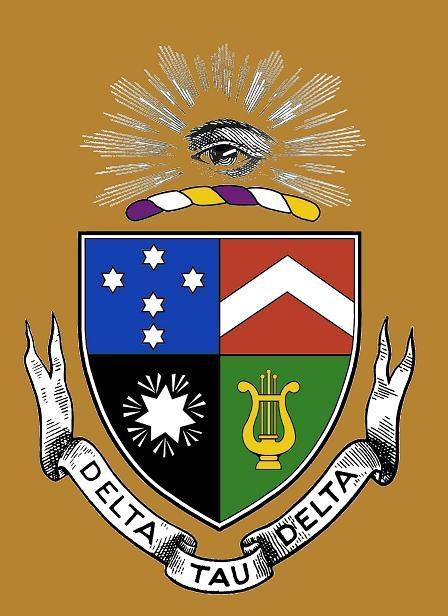 DeltaTauDelta Crest With Alien Symbols
