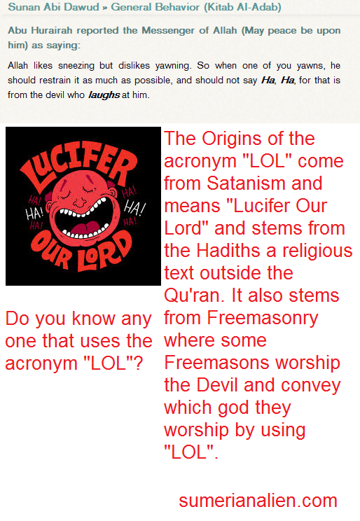 LOL = Lucifer Our Lord Finally Proved?