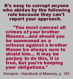 Rules of freemasonry - shocking