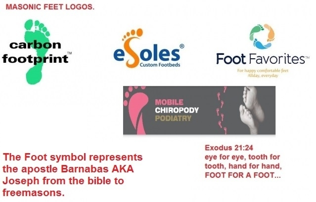Logos with a foot symbol