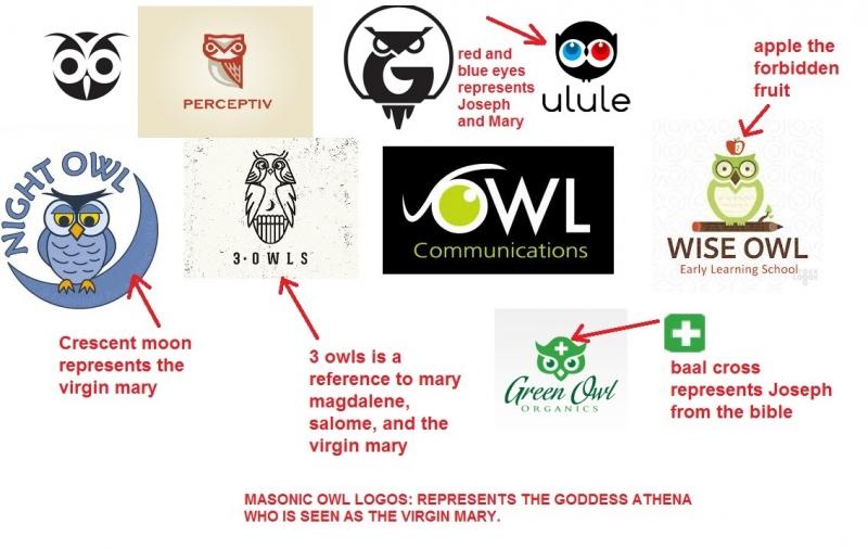 Masonic owl logos