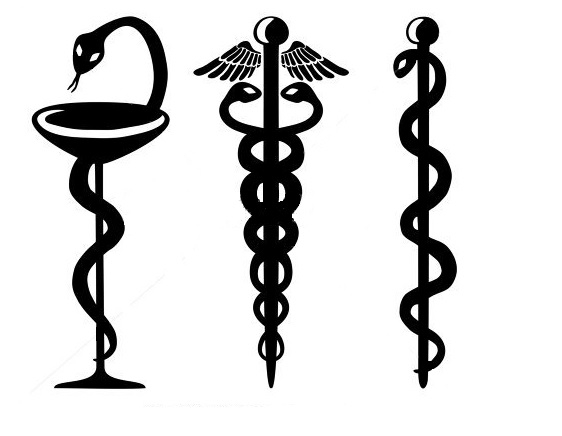 Serpents on a rod - the different symbols and the meanings