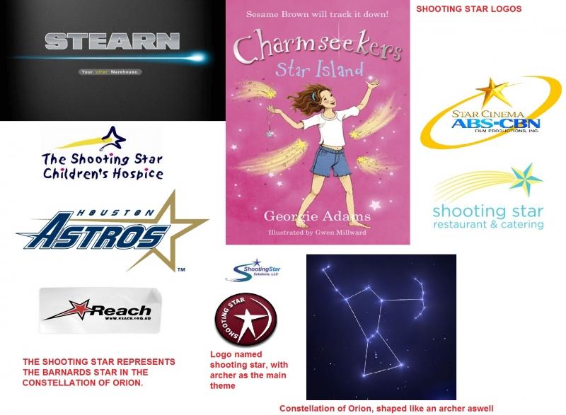 Shooting star logos of the Barnards star
