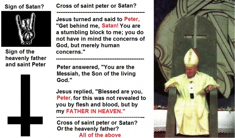 upside down cross, symbol of saint peter or the devil?