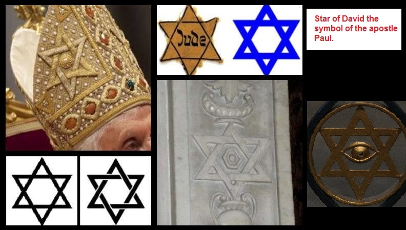 Star of David on (ye olde) Pope's hat