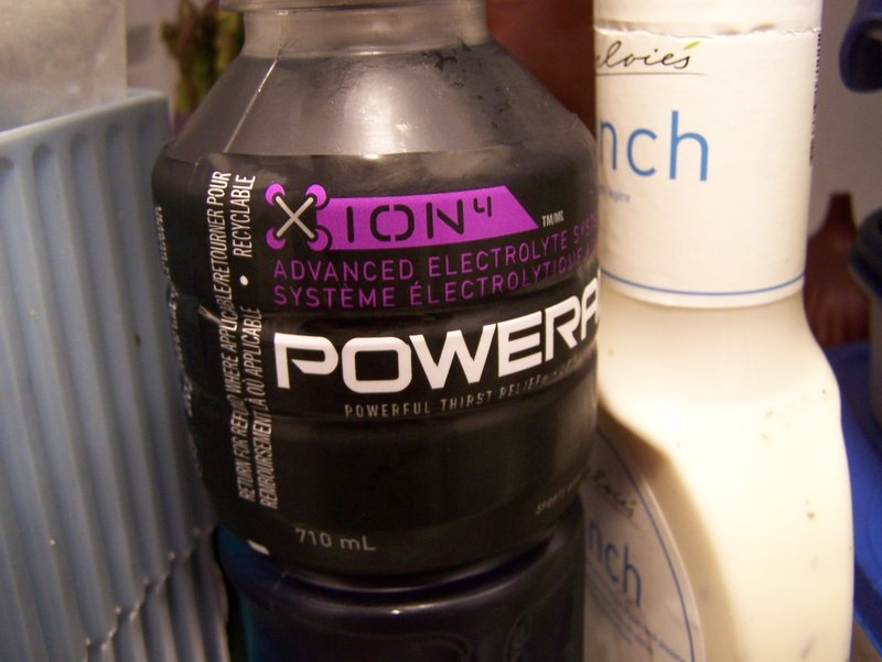 Powerade drink with zion on the label - olympic drink