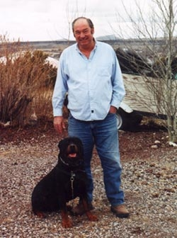 Bill Cooper with Dog Picture