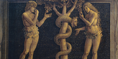 Adam , Eve and the Brain ( Left side Good / Right wing bad )